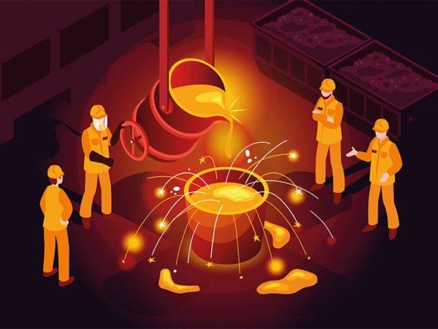 Fertigungsverfahren Ueberblick - Stahlproduktion